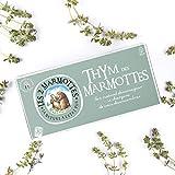 Les 2 Marmottes Infusion Thym des Marmottes - Anti rhume - Bien-tre et Relaxation - Pour dgager les voies respiratoires - 30 Sachets par boite - Made in France