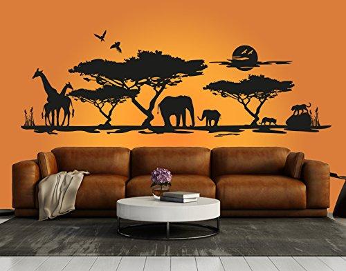Schönes Wandtattoo Afrika Savanne 1
