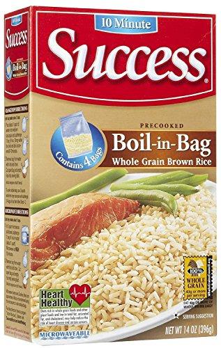 Success Boil in Bag Whole Grain Brown Rice 14 oz 4 ct  2 Pack