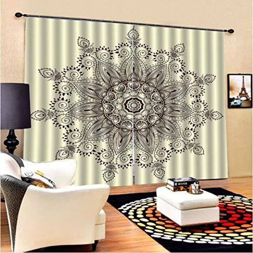 Empty Verdunkelungsvorhänge Öse Europäische 3D-Vorhänge Vorhänge für Wohnzimmer Schlafzimmer Moderne Einrichtungsgegenstände Verdunkelungsvorrichtung 168 * 138 cm x 2