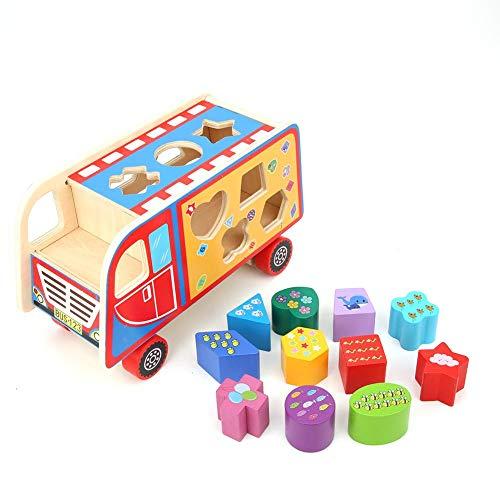 Toy Car, Shape Matching Game, Educatief speelgoed Shape Matching Blocks Toy Car 8.9X5.5X3.9In voor 3-6 jaar oud huis