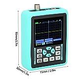 DS01511E + Mini Osciloscopio Digital Portátil de Mano de 2,4 Pulgadas, Ancho de Banda 120 MS/S, Frecuencia de Muestreo 500 MHZ, Admite Forma de Onda de Referencia de Bloqueo de una Tecla, para Calibra