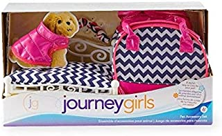 Journey Girls Pet Accessory Set - Pink, White and Navy