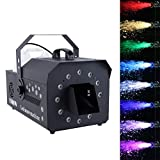TC-Home 1500w DMX Stage Snow Machine with LED Lighting 3IN1 RGB 5L Stage Snowflake Effect Party Halloween Christmas