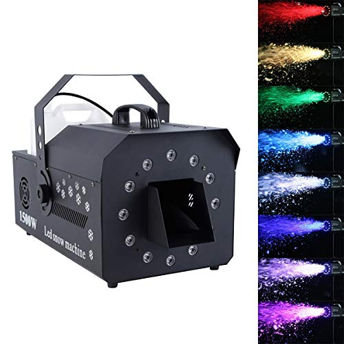 TC-Home 5L Stage Snow Machine with LED Lighting DMX 1500w Stage Snowflake Effect Party Halloween Christmas