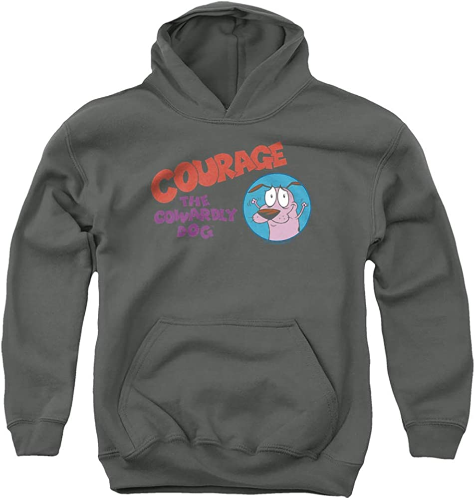 Courage The Cowardly Dog High order Logo Hoo Unisex Pull-Over Youth Price reduction