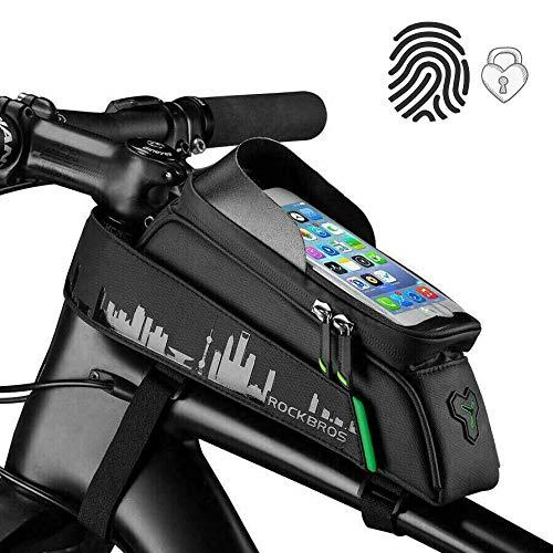 """ROCKBROS Fahrrad Rahmentasche Fahrradtasche Wasserdicht Handytasche Touchscreen für Handys bis zu 6,0"""" iPhone X XS Max 7 8 Plus Galaxy S9 Note7"""