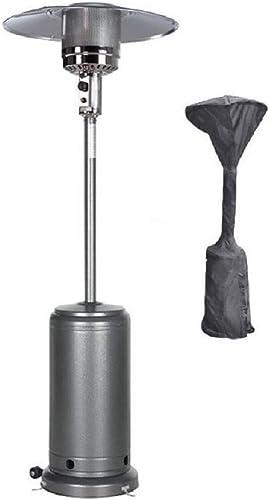 MaxxGarden Chauffage de terrasse à gaz 13 Kw avec détendeur, Tuyau de gaz, roulettes et Housse de Protection, 210 cm ...
