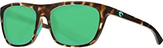 Costa Del Mar CHA249OGMGLP Unisex Matte Shadow Tortoise Frame Green Mirror Lens Square Sunglasses