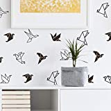 Apliques Etiqueta De La Pared Origami Pájaro Geométrico Animal Tatuajes De Pared Dormitorio Vinilo Decoración Del Hogar