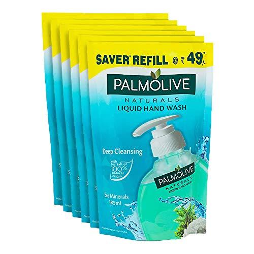 Palmolive Naturals Sea Mineral Handwash Refill – 185 ml (Pack of 6)