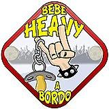 Placa bebé a bordo Bebé Heavy a bordo Rock Metal