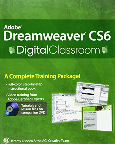 Osborn, J: Adobe Dreamweaver CS6 Digital Classroom