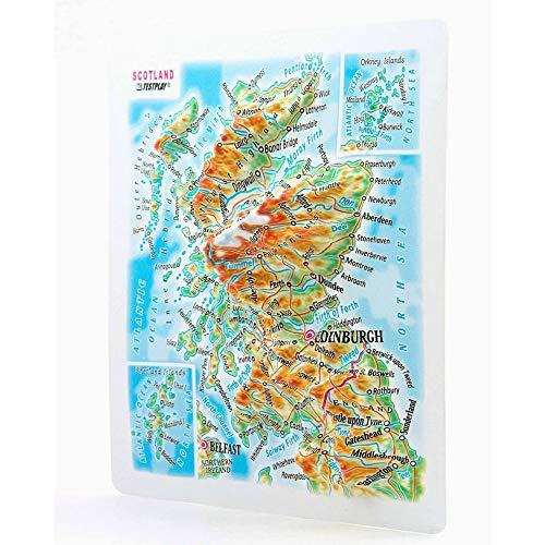 Scotland. 3D Reliefpanorama, Landkarte (Magnet/Mini) (Scotland. High raised relief panorama (Magnet/Mini)) [Шотландия. Высокообъемная панорама SCOTLAND (Магнит/Mini)]