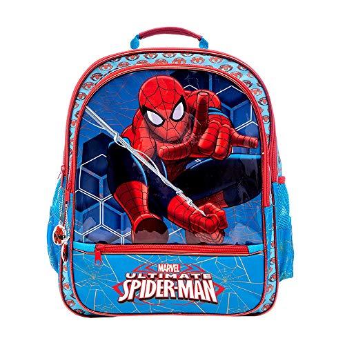 Zaino Doppio Scomparto Marvel Spiderman Con Spallacci Regolabili e Schienale Imbottito, Perfetto Per Scuola e Tempo libero (Zaino)
