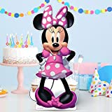 Party City Minnie Mouse Forever Cardboard Cutout Centerpiece, Birthday Party Supplies, 18' Tall, 1 Count