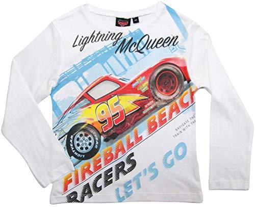 Cars Disney 3 Kollektion 2017 Langarmshirt 92 98 104 110 116 122 128 Shirt Lightning McQueen Rot-Weiß (Rot-Weiß, 98-104)