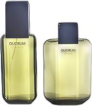Antonio Puig Quorum 2 Pc. Gift Set (Eau De Toilette Spray 3.4 Oz + Aftershave 3.4 Oz), 201.1 milliliters