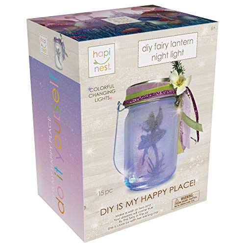 Hapinest DIY Fairy Lantern Night Light Kit - Arts and Crafts Gift for Girls Ages 6 Years and Up