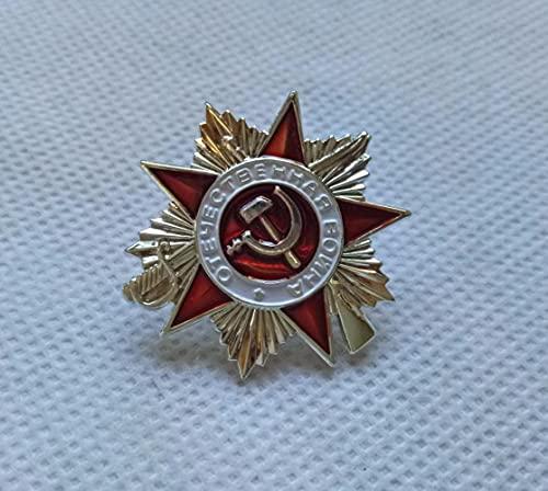 liangsen Insignia Pin Gran Guerra Patriótica 2da Clase URSS Orden Militar Rusa soviética Medalla Militar Estrella roja ww2 día de la Victoria Plateado