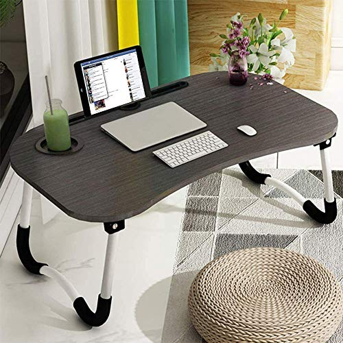 Laptop Desk, Astoryou Portable Laptop Bed Tray Table Notebook Stand Reading Holder with Foldable Legs & Cup Slot for Eating Breakfast, Reading Book, Watching Movie on Bed/Couch/Sofa