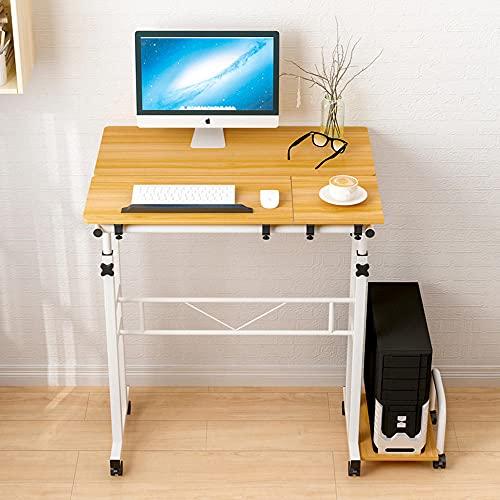 Escritorio computadora, Escritorio Oficina para Trabajar, Escritorio Ajustable en Altura, Estilo Escritorio Simple PC Tabla de Trabajo con Tablero de Empalme-D