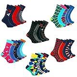 TWO LEFT SOCKS Premium Fashion Sets de 5 p. de calcetines! Calidad de algodón, muchos diseños y tamaños muchos unisex (SET 1 ROSSO E BLU SCURO, EU 39-42 / UK 6-8)
