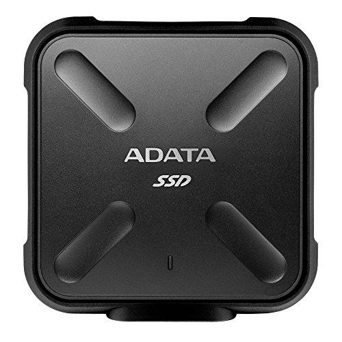 ADATA 256GB SD700 SSD, Black Durable External, ASD700-256GU3-CBK (Durable External Military-grade Shockproof, IP68 Dustproof/Waterproof)
