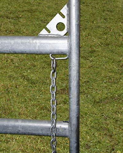 Weidepanels Zaunelement 360 cm Schnellkettenverschluss - 3