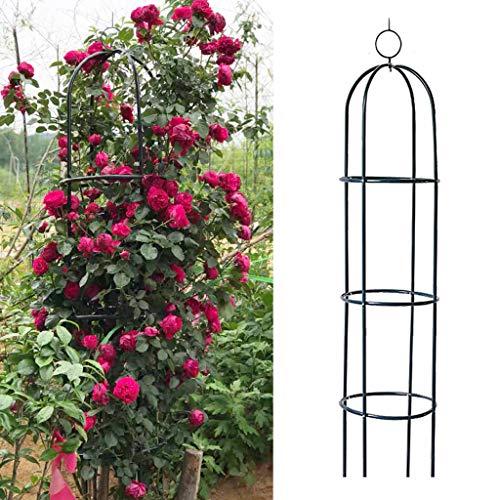 Trellises ZYY@ Gartenbogen, Metallgarten Obelisk Hochleistungs-starker röhrenförmiger Pflanzenkäfig für Rosen Kletterpflanzen Stützstruktur Gartendekoration