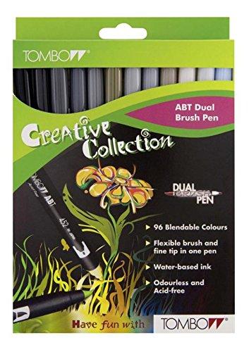 TOMBOW Dual Brush Pen ABT, 12-colours-set, grey colours