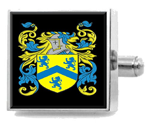 Select Gifts Warner England Family Crest Surname Coat Of Arms Gold Cufflinks Engraved Box