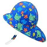 Cappello da Spiaggia Protezione Solare UPF50+ Anti-UV Berretto per Bambino Ragazze Ragazzi...