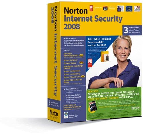 Norton Internet Security 2008 incl. Antibot (3 User) + NfS Carbon [import allemand]