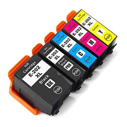 Teland - Cartuchos de tinta para impresora Epson 202XL, 202 XL, compatible con Epson Expression Premium XP-6000 XP-6005 XP-6001 XP-6100 (5 unidades)