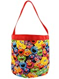 Sesame Street Elmo Boys Girls Collapsible Nylon Gift Basket Bucket Toy Storage Tote Bag (One Size, Red/Multi)
