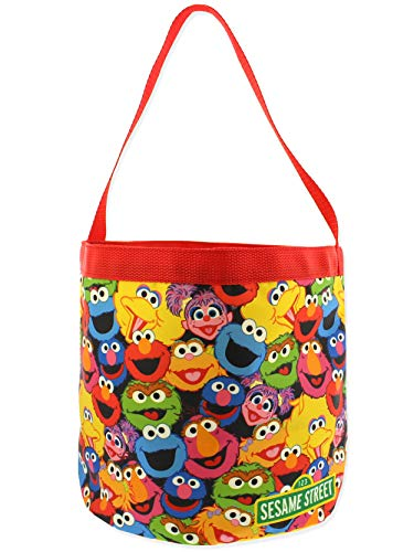 Sesame Street Elmo Boys Girls Collapsible Nylon Gift Basket Bucket Toy...