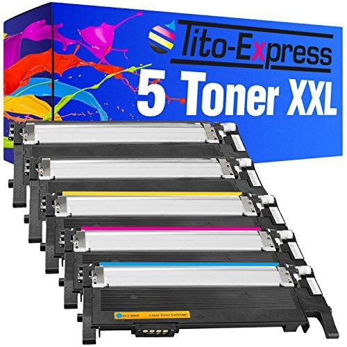 Tito-Express Platinum Series 5 Toner Cartridges XXL compatibel met Samsung CLT-406S Xpress C410W C460FW C460W C467W CLP-360N CLP-360ND CLP-365 CLP-365W CLX-3300 CLX-3305 CLX-3305FN