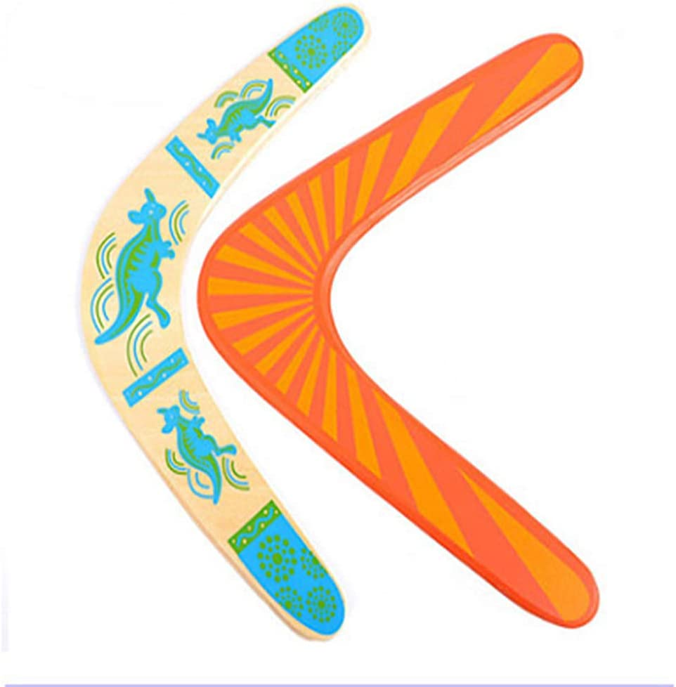 LOKE Boomerang for Kids,Professional Sports Fast Catch Boomerang,Wooden Beginner Boomerangs for Young Throwers