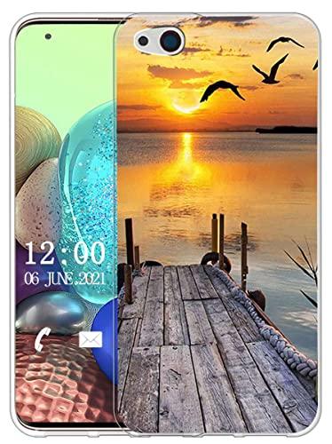 Sunrive Hülle Kompatibel mit ZTE Nubia Z9 Max Silikon, Transparent Handyhülle Schutzhülle Etui Hülle (X Sonnenuntergang See)+Gratis Universal Eingabestift MEHRWEG