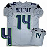 DK Metcalf Autographed Signed Jersey - Gray - Beckett Authentic