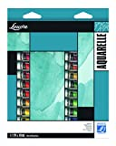 Lefranc & Bourgeois Louvre - Pack de 24 tubos de pintura de acuarela (10ml)