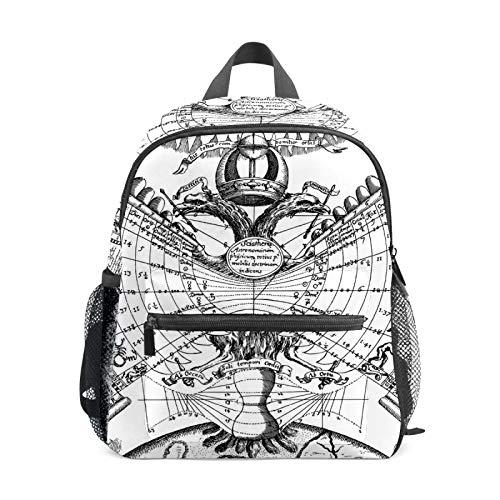 Mochila de astrología del zodíaco con horóscopo de astrología para niñas y niños, mini mochila de viaje para estudiantes de preescolar, bolsa pequeña para la escuela