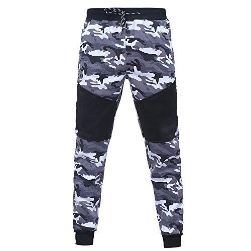 Deelin herentop, herfst/winter, camouflage-druk, met ritssluiting, capuchonpullover, tops, sportbroek, joggingpak, trainingspak
