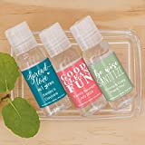 Catchy Sayings Personalized Hand Sanitizer, Custom Hand Sanitizer Wedding Favors, Hand Sanitizer Party Favors (Set of 12)