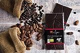 Chocolate negro 72% con café, Artesano y Ecológico Natural. Cacao Criollo Especial. Bio Orgánico, Categoría Gourmet Premium. Utilizado en Postres, Fundir, Repostería Bombones Cobertura. Tableta 95 gr