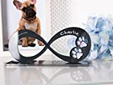 CHRISCK design Gedenkstandbild Gedenktafel Hund mit Gravur Infinity Form mit