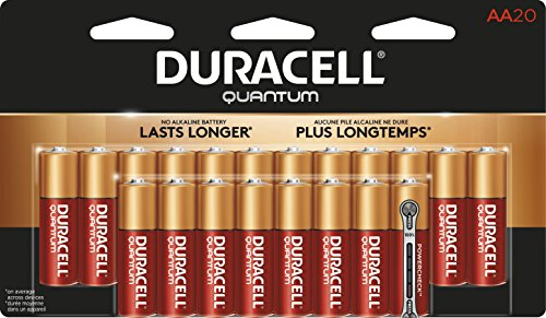 Price comparison product image Duracell Quantum AA Alkaline Batteries - Long Lasting,  All-Purpose Double A battery for Household and Business - 20 count