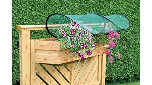GardenGuard Balkonblumenschutz, 1 Stück, Regenschutz für Balkonkästen