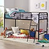 Amazon Basics Metal Twin Loft Bed, Easy Assembly, Black